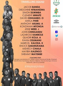 CAF Confederation Cup: Zesco United name squad for Kotoko encounter