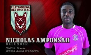 Defender Nicholas Amponsah joins Chattanooga Red Wolves in USL