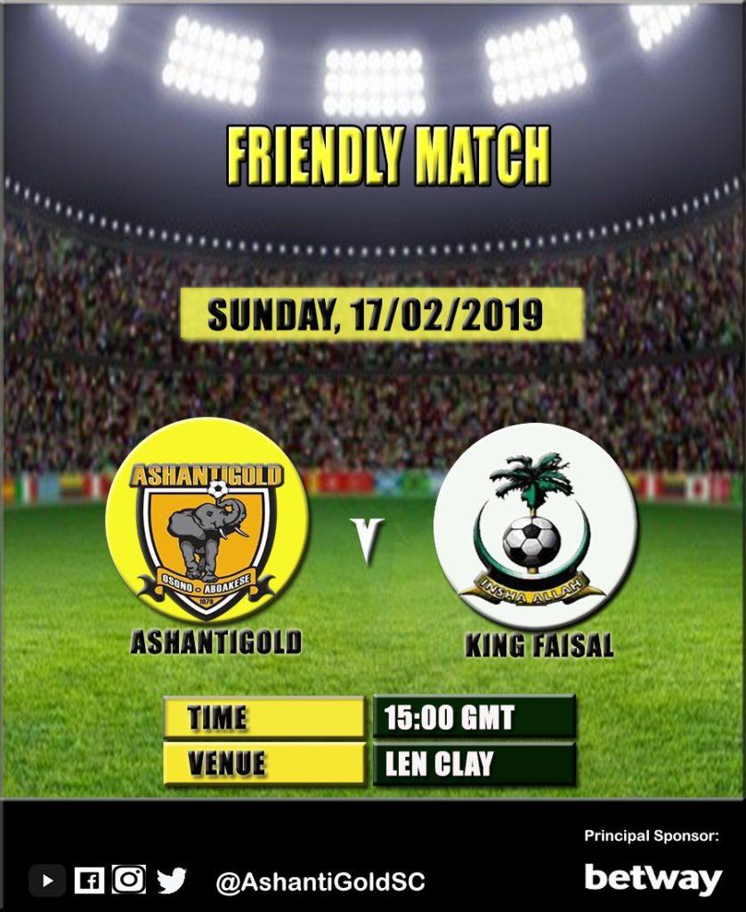 AshantiGold to play King Faisal in friendly