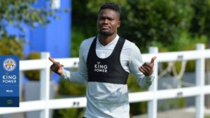 Amartey steps up training after suffering sickening injury