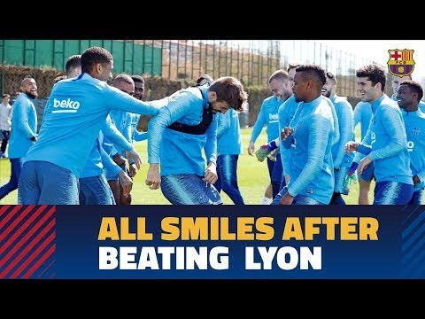 Upbeat training session after big night in Champions League