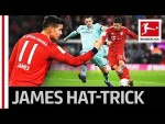 James Rodriguez Is Unstoppable - First Hat-Trick for Bayern München