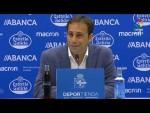 Rueda de prensa de Fran Fernández tras el RC Deportivo vs UD Almería (0-0)