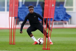 Video of Callum Hudson-Odoi playing school football emerges after England call-up