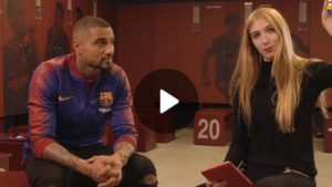 Video: Kevin-Prince Boateng plays the 90 Seconds Challenge at Barca, names himself the greatest player in history