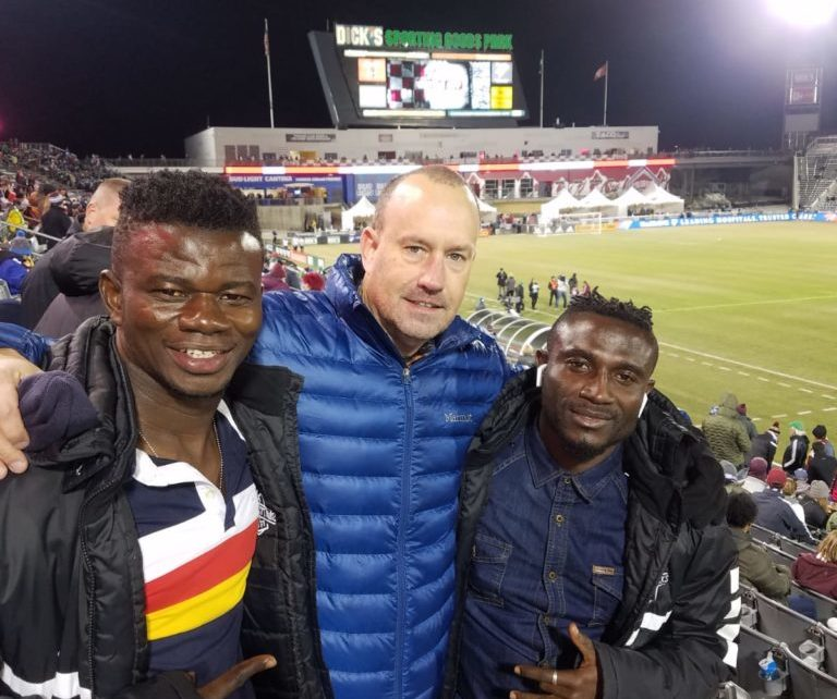 Mark Noonan visits Medeama duo on loan at Colorado Switchbacks Springs