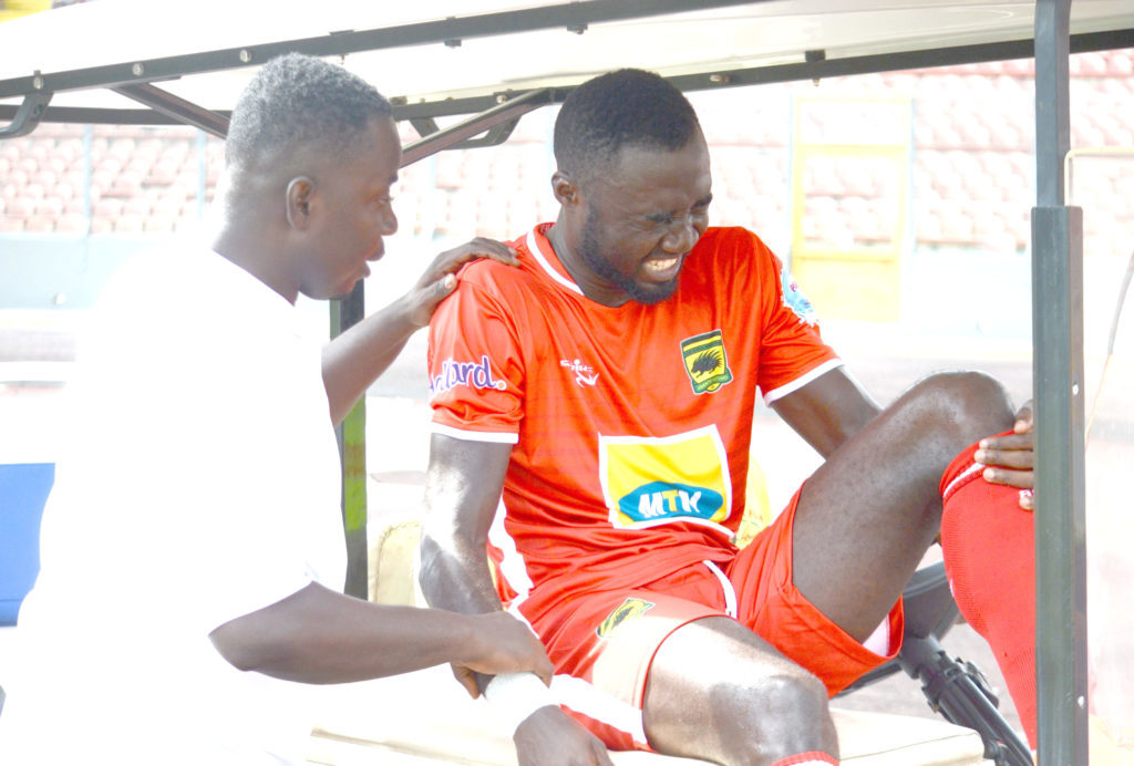 Asante Kotoko striker Dany Zabo ruled out for SIX weeks with shoulder injury
