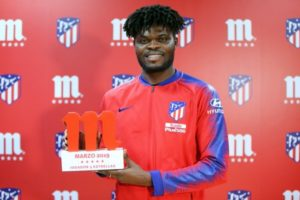 Thomas Partey wins Atletico Madrid player of the month award [VIDEO]