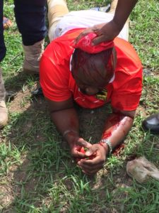 BREAKING NEWS: Kotoko Policy Analyst Amo Sarpong fires gunshot at Chelsea-Kotoko clash