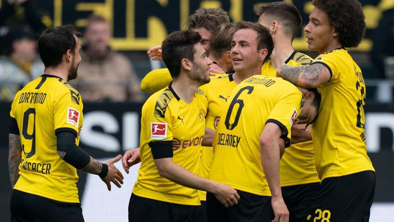 Borussia Dortmund keep title hopes alive in win over Fortuna Dusseldorf