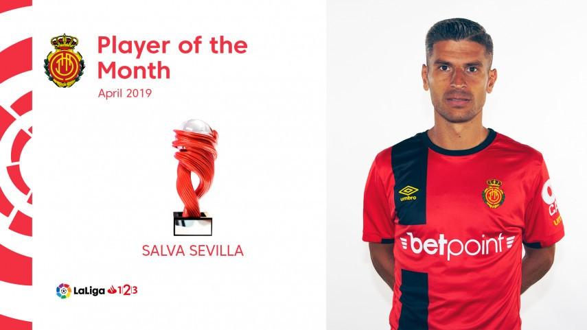 Salva Sevilla named LaLiga 1|2|3 Player of the Month for April