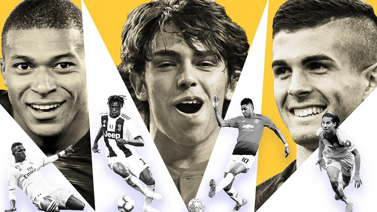 Kylian Mbappe, Christian Pulisic and Frenkie de Jong lead soccer's 30 best players under 21