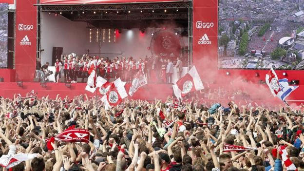 Ajax: 100,000 fans turn up to celebrate league and cup double