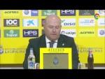 Rueda de prensa de Pepe Mel tras el UD Las Palmas vs CF Rayo (3-2)