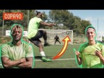 One v One Skill Challenge with Allan Saint-Maximin! | Timbsy Vs The World