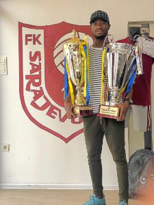Former Ghana U-20 defender Joachim Adukor wins the double with FK Sarajevo in Bosnia