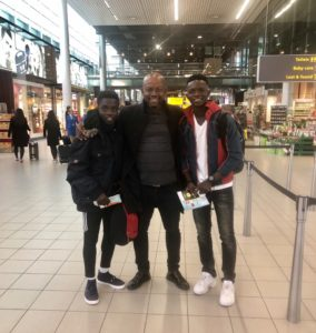 Two players from Asamoah Gyan's Baby Jet academy arrive in Bologna for trial