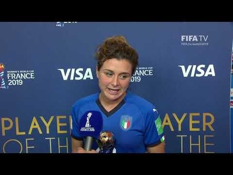 Cristiana Girelli – Player of the Match – Jamaica v Italy