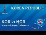KOR v. NOR - Korea Republic - Pre-Match Press Conference