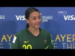 Sam Kerr – Player of the Match – Jamaica v Australia