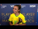 Marta – Player of the Match – Italy v Brazil