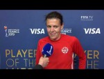 Christine Sinclair – Player of the Match – Netherlands v Canada