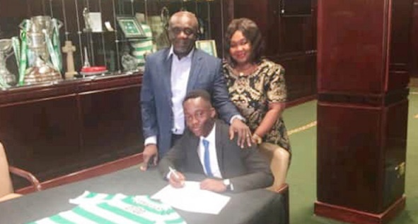 Scottish giants Celtic sign Ghanaian youngster Ewan Otoo