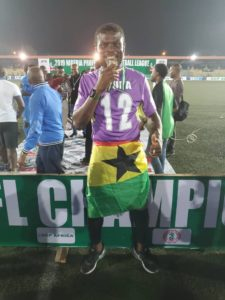 Fatawu Dauda celebrates winning league title with Enyimba fc