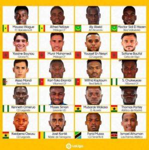 Ghana duo Thomas Partey and Mubarak Wakaso among La Liga Stars to feature at 2019 AFCON