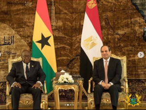 JUST IN: Nana Addo in Egypt to watch Ghana-Benin clash