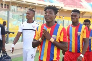 Hearts coach Kim Grant praises qualities of Benjamin Afutu