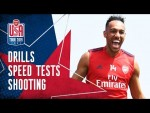 AUBA V LACA IN A RACE! | Speed tests & drills | Behind the scenes | Arsenal in USA 2019
