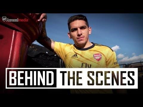 adidas x Arsenal   Behind the scenes at the 2019/20 away jersey kit shoot