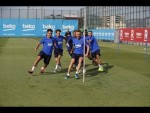Barça's final day of training before trip to Japan