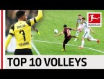 Top 10 Volley Goals in 2018/19 - Lewandowski, Jovic, Sancho & Co.