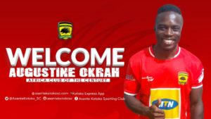 New Kotoko signing Augustine Okrah express delight after returning to club