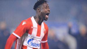 Richmond Boakye Yiadom scores for Red Star Belgrade in Champions League qualifier