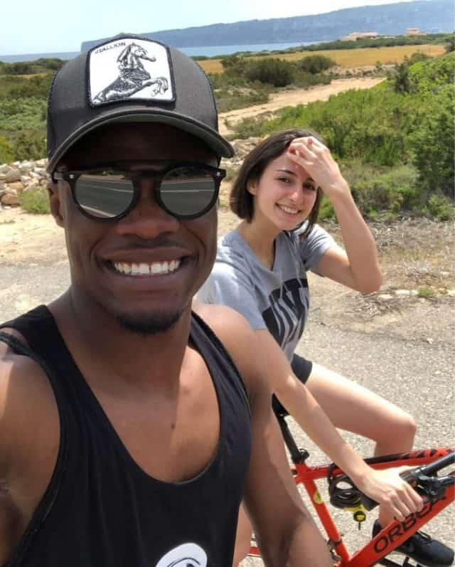Ghana's Caleb Ekuban spotted on holidays with partner Fappani Alice after AFCON penalty miss