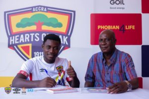 Ghanaian prodigy Mitchelle Sarpong signs improved Hearts of Oak contract