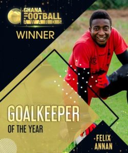 Felix Annan named goalkeeper of the year at Ghana football awards