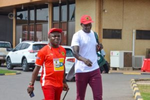 Kotoko new signing George Abege arrives in Ghana to join teammates