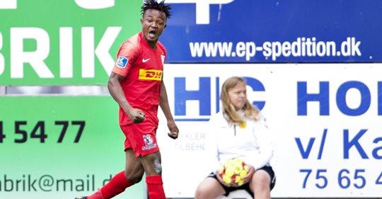 VIDEO: Ghanaian players Isaac Atanga and Godsway Donyoh powers Nordsjaelland to victory in Danish Superliga