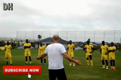 VIDEO: Kotoko Manager Kjetil Zachariassen begins training with team