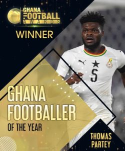 Ghana football awards: Atletico Madrid midfielder Thomas Partey wins player of the year
