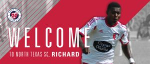 Richard Danso vows to make North Texas SC fans happy