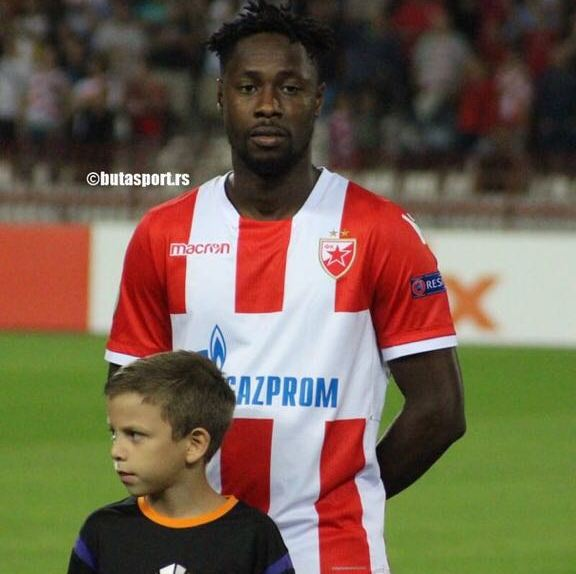 Richmond Boakye-Yiadom features in Red Star Belgrade's draw with Suduva in UCL play-offs