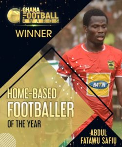 Kotoko's Abdul Fatawu Safiu wins home-based player of the year award