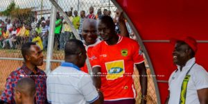 Asante Kotoko new recruit George Abege mobbed by fans at training