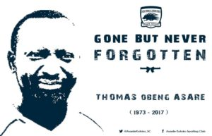 Kotoko remember deputy kits officer Thomas Asare who died in fatal accident two years ago