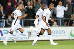 Swansea City fans praises Andre Ayew heroics against Northampton Town